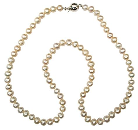 classic dainty white julia 5mm pearl necklace with an