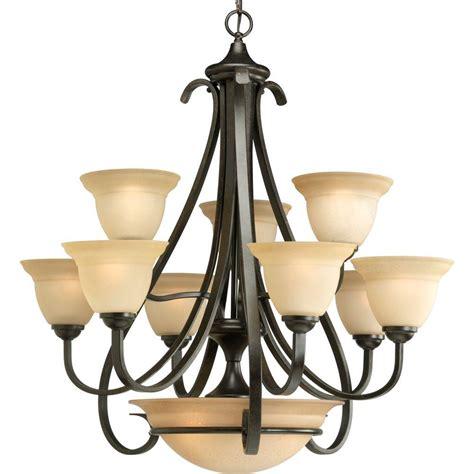 9 light chandelier bronze progress lighting torino collection 9 light forged bronze