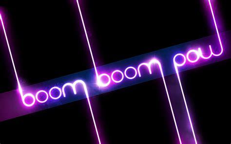 black eyed peas boom boom pow lyrics description wallpaper black background purple typography glowing