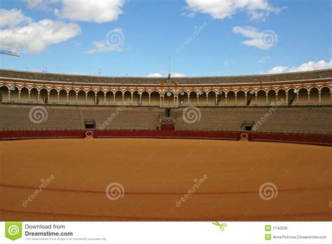 design on stock villa arena bullfight arena in sevilla stock photo image 1742230
