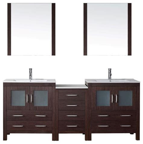 78 Bathroom Vanity 78 Quot Vanity Modern Bathroom Vanities And Sink Consoles By Virtu Usa Inc