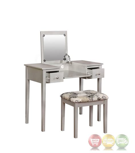 silver bedroom vanity silver butterfly bedroom vanity set with flip top mirror