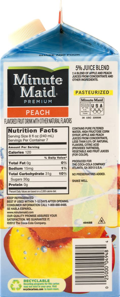 Minute Light Fruit Punch Nutrition Facts 28