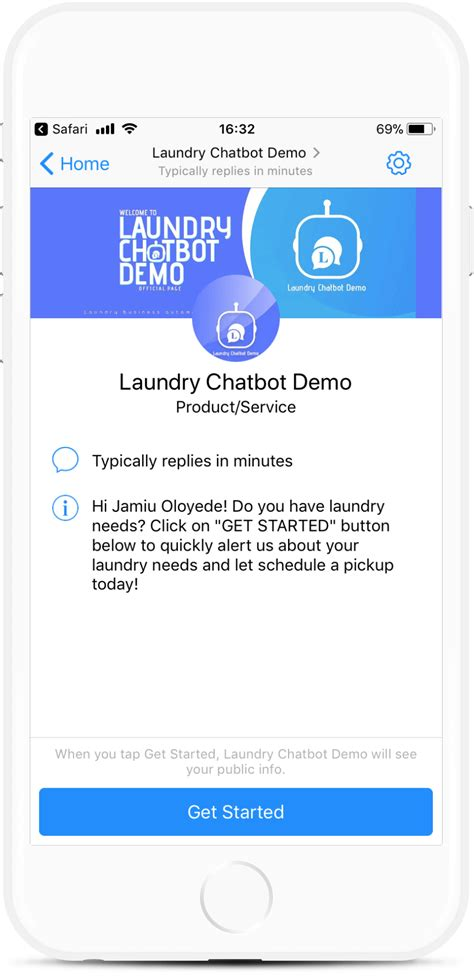 Dry Cleaning Laundry Chatbot Template For 79 Botmakers Chatbot Template