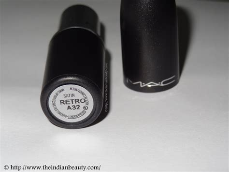 mac retro lipstick review and swatches indian makeup and mac satin lipstick retro review swatches the indian