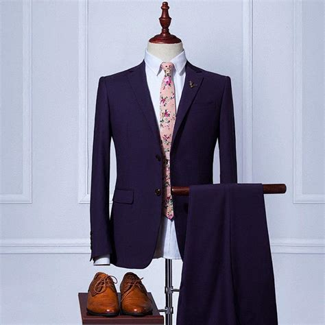 Handmade Mens Suits - custom wedding suit handmade s suits wool blend 2piece