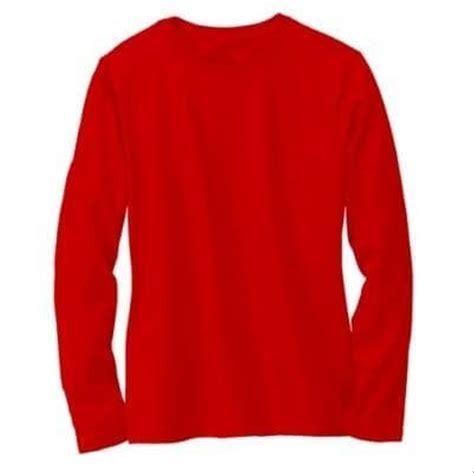 jual terbaru baju kaos polos lengan panjang merah