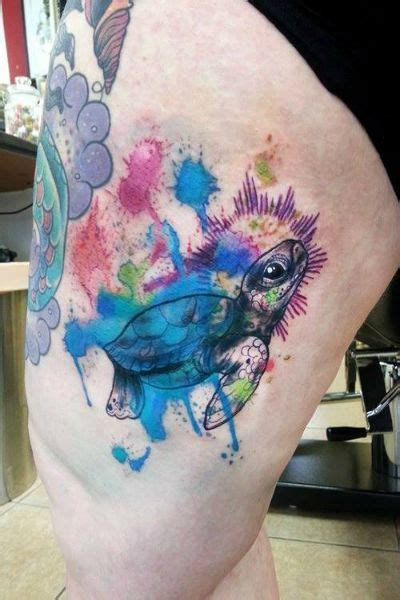 watercolor tattoo wisconsin turtle watercolor tattooideaslive