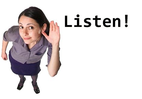 how to a to listen when called call listening clipart 4