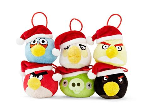 angry birds plush christmas tree decorations with santa