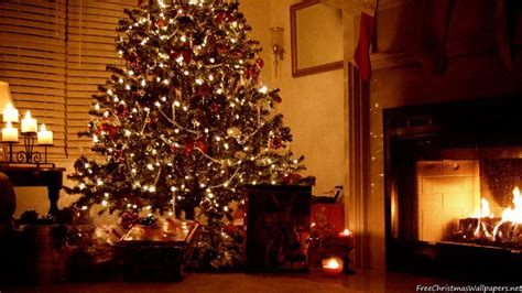 Tree And Fireplace Wallpaper by Fireplace Wallpaper Freechristmaswallpapers Net