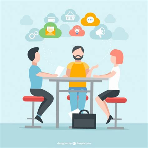 libro illustration meeting the brief people in meeting vector free download
