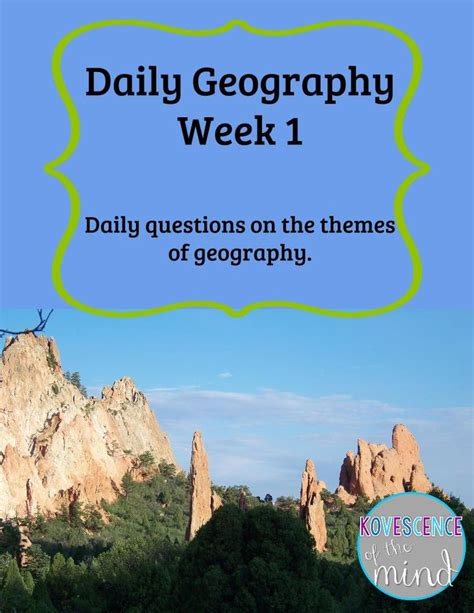 themes of physical geography free daily geography bell ringer sunday scoop 4 12 and
