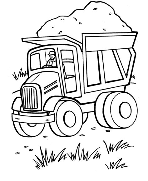 Printable Truck Coloring Pages free printable dump truck coloring pages for