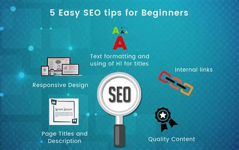 5 easy seo tips for beginners