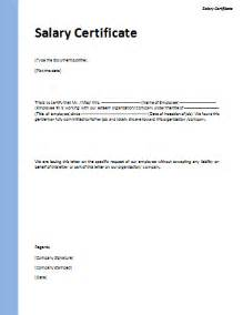 Certification Letters After Your Name Certificate For Salary Template Doc Blank Certificates