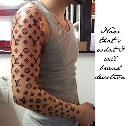 louis vuitton tattoo brands himself with louis vuitton