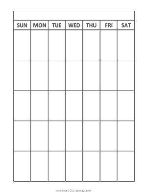 blank monthly calendar vertical grid sunday  young women calendar blank calendar