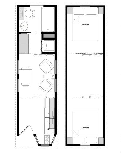 tiny home floorplans wonderful sle floor plans for the 8x28 coastal cottage