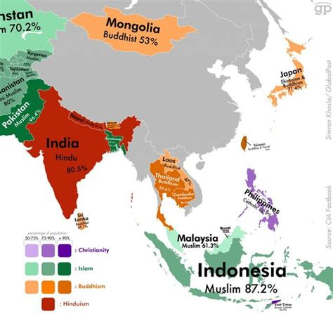 map these are the world s least religious countries the asia the world and places on pinterest