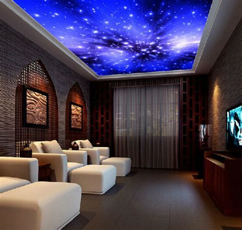 sky wallpaper for bedroom living room ceiling blue wallpaper ktv parlor fantasy bright sky background wallpaper