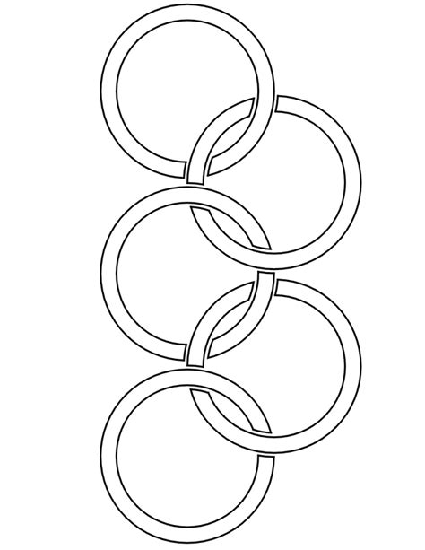 winter olympics coloring page olympic rings