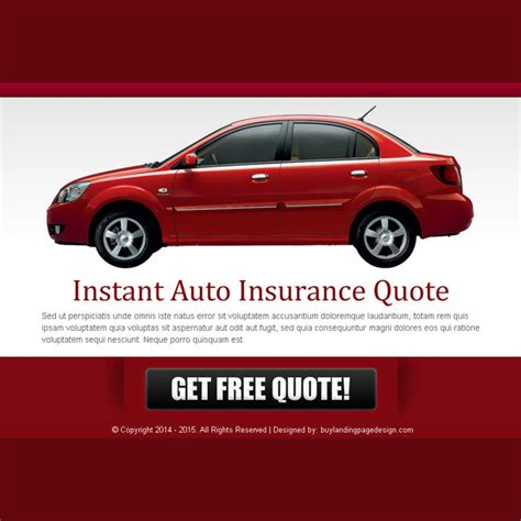 Instant Car Insurance Quote by Auto Insurance Ppv Landing Page Design Templates For Your
