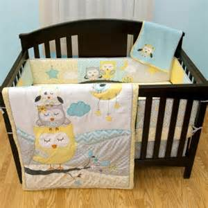 Of my favorite owl themed crib bedding sets that features naptime owls