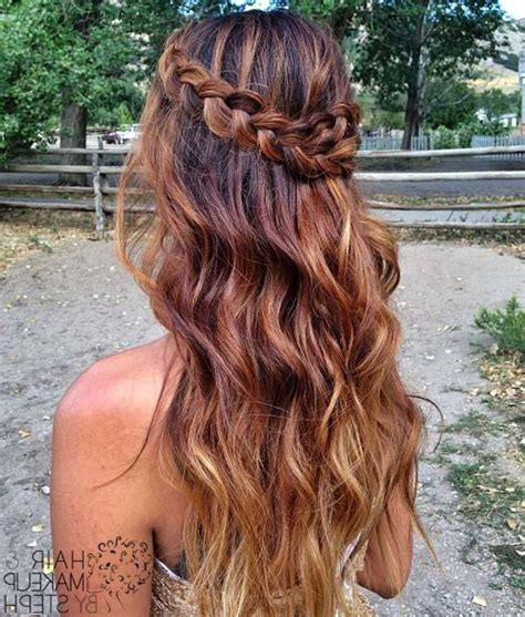 hairstyles when hair is down half up half down prom hairstyles hairstyle haare fein