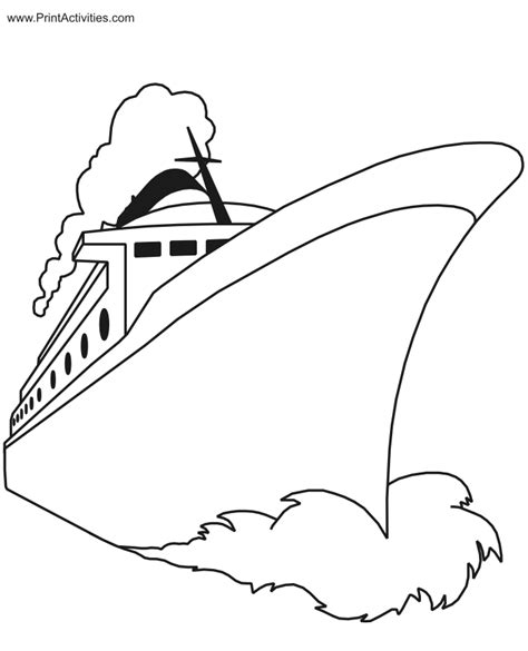 free vessel coloring pages