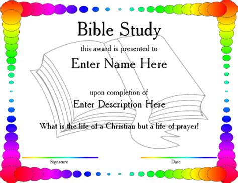 bible study certificate templates bible certificates pictures to pin on pinsdaddy