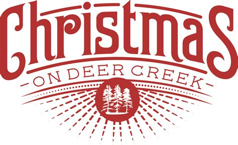 christmas logo on deer creek