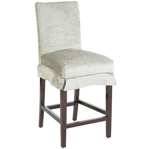 counter stool slipcovers dana bar and counter ivory stool slipcover