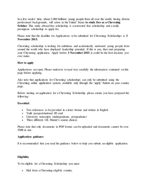 Reference Letter Format For Chevening Scholarship Sle Reference Letter For Chevening Scholarship Mediafoxstudio