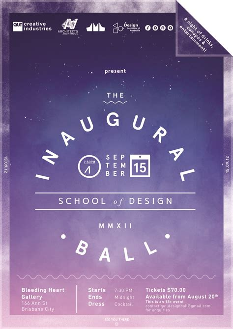 qut school of design creative industries tickets for qut inaugural school of design ball in