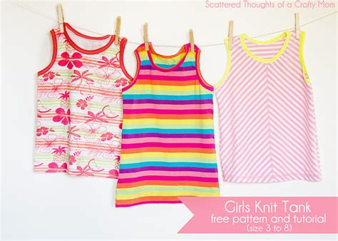 best tutorial on design patterns girls knit tank top pattern and tutorial size 3 to 8