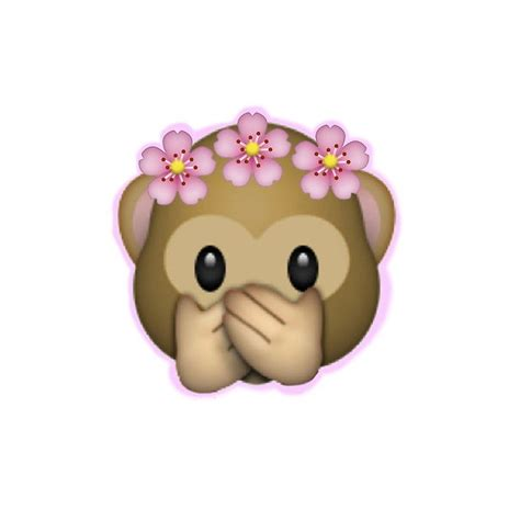tattoo affen emoji pics of emojis emoji monkey flower crown edit quot posters