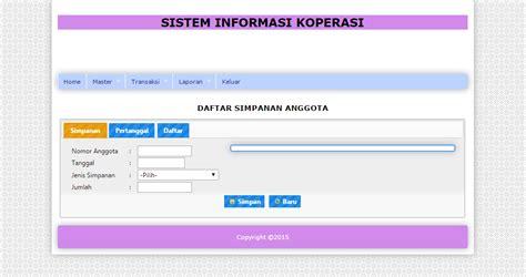 membuat web koperasi contoh source code sistem informasi koperasi simpan pinjam