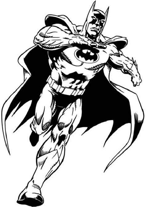 batman dark knight running  bad guys coloring page