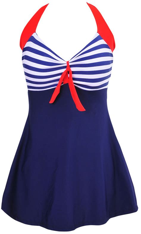 stripe padded halter skirt swimwear one