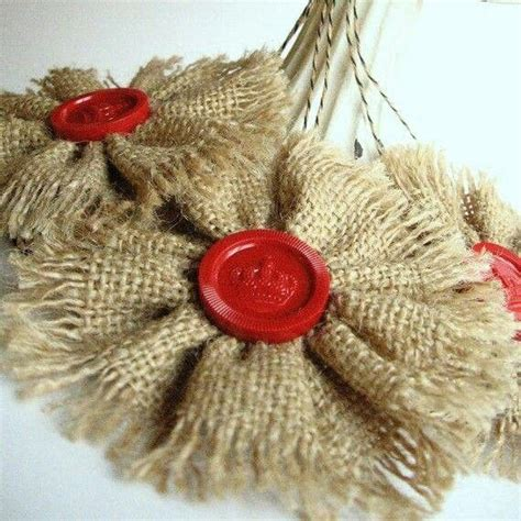 burlap ornament rockin around the christmas tree pinterest