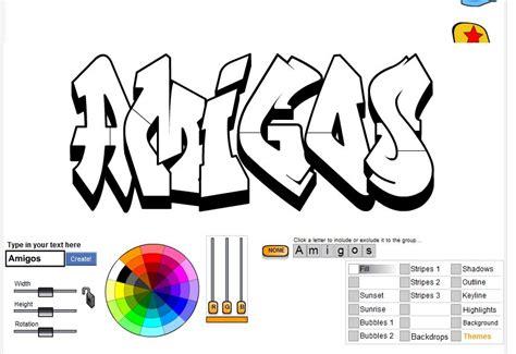 imagenes que digan amigos 2 creadores de graffiti online taringa