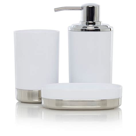 chrome bathroom accessories george home white chrome bathroom accessories bathroom