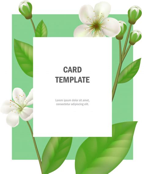 apple greeting card templates greeting card template with apple flowers on green frame
