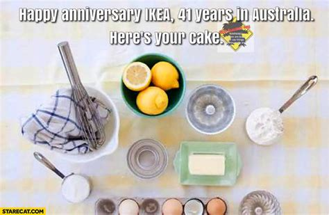 happy 25th birthday ikea here s your cakex the starecat com memes funny pictures gifs and lol pics