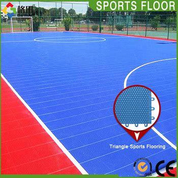 Interlock Floring Futsal ce standard pp interlocking portable outdoor futsal court