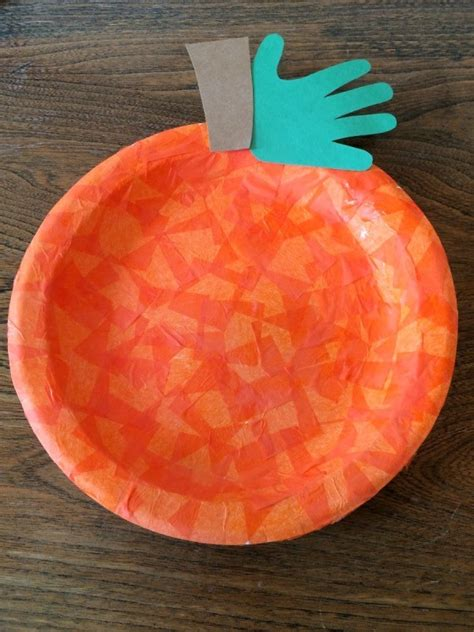 How To Make A Pumpkin With Construction Paper - a paper plate o lantern thriftyfun