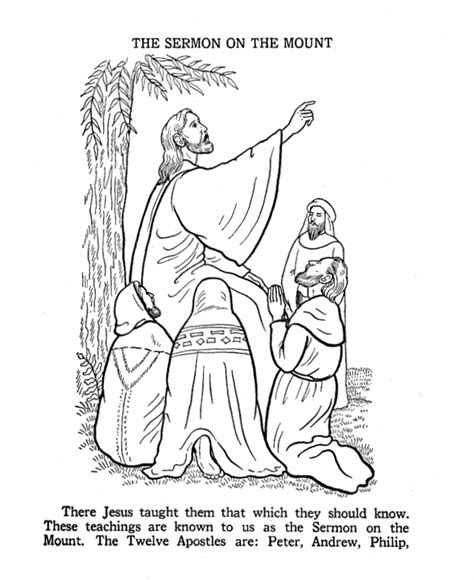love chapter coloring page the sermon on the mount coloring page bible story
