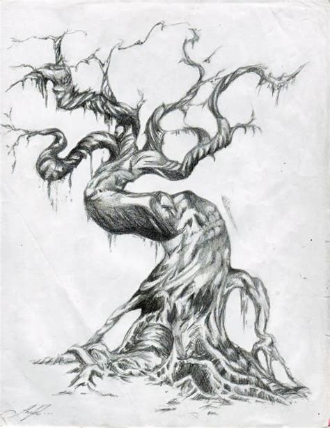 twisted tree tattoo designs twisted tree drawing search scenery