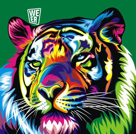 libro pop art a colourful aliexpress com buy modern colorful animal tiger oil painting pictures print on canvas wall